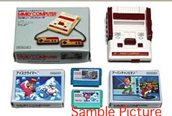 Famicom & Casette in Box Set Miniature Figure Ice Climber JAPAN NES NINTENDO