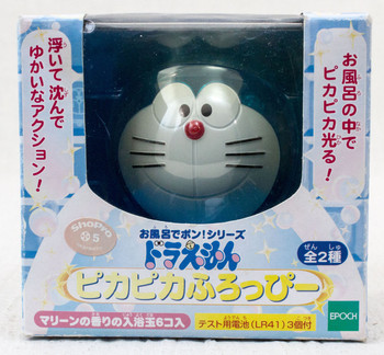 Doraemon Pikapika Furoppi Face Figure Toy in Bath JAPAN ANIME MANGA