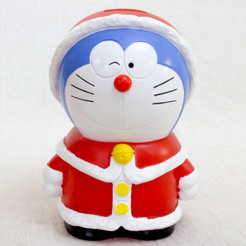 "Doraemon Christmas Santa Costume 5"" Figure Coin Bank JAPAN ANIME MANGA"