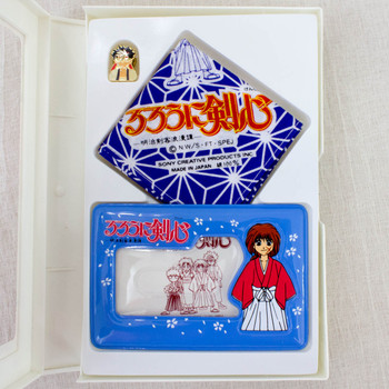 Rurouni Kenshin Stationery Goods Set Card Holder Handkerchief Pins JAPAN ANIME