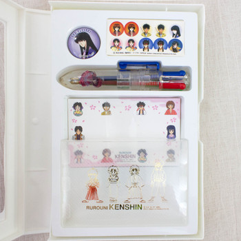 Rurouni Kenshin Stationery Goods Set Card Case Ballpoint Pen Pins JAPAN ANIME