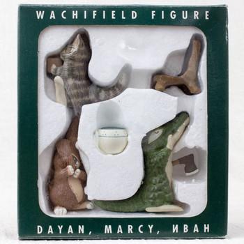 RARE!! Wachifield Cat Dayan Marcy Nbah Figure Set JAPAN