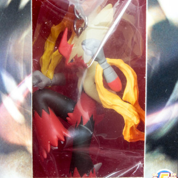 Pokemon Mega Blaziken Bursyamo Real Figure Key Chain JAPAN ANIME MANGA