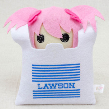 Puella Magi Madoka Magica MADOKA in Lawson Bag Mini Plush Doll JAPAN ANIME