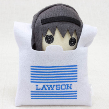 Puella Magi Madoka Magica Homura in Lawson Bag Mini Plush Doll JAPAN ANIME