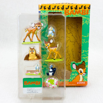 RARE! BAMBI Movie Friends Mini Figure Set Yutaka JAPAN