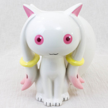 Puella Magi Madoka Magica Kyubey Ceramic Figure Coin Bank Medicom JAPAN ANIME
