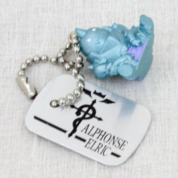 FullMetal Alchemist Alphonse Erlic Figure Plate Tag Ballchain Bandai JAPAN ANIME