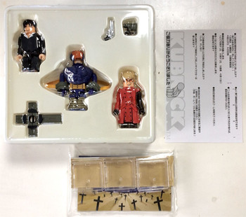TRIGUN Kubrick 3pc Set Medicom Toy Figure Vash Nicholas Monev JAPAN ANIME MANGA