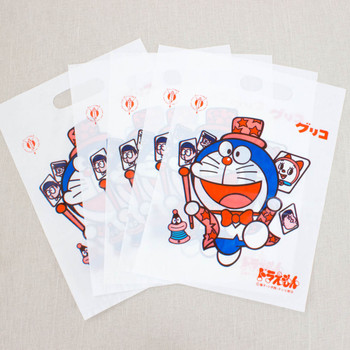 Retro RARE! Doraemon Glico Plastic Bag 10pc Set JAPAN ANIME MANGA