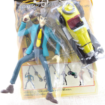 Lupin the Third (3rd) LUPIN & Mercedes-Benz SSK Figure Keychain JAPAN ANIME MANGA