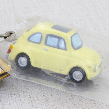 Lupin the Third (3rd) Daisuke Jigen & Fiat 400F Car Figure Keychain JAPAN ANIME MANGA