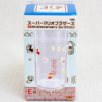 Super Mario Bros. Field Design Sea Ver Glass 30th Anniversary JAPAN GAME FAMICOM