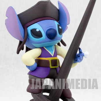 Disney Stitch Pirates of Caribbean Ballpoint Pen Stand Figure JAPAN ANIME
