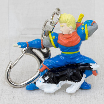 Retro RARE! Samurai Spirits Galford & Puppy Figure Key Chain SNK 1993
