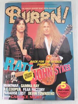 1999/05 BURRN! Japan Rock Magazine RATT/JOHN SYKES/IRON MAIDEN/KREATOR