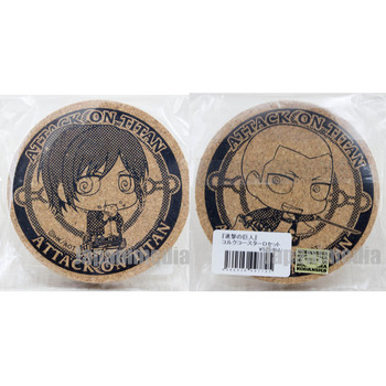 Attack on Titan Cork Coaster 2pc set Sasha Braus & Connie Springer JAPAN ANIME