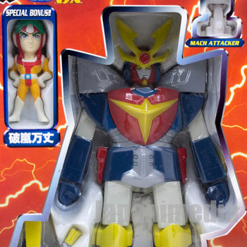 Invincible Steel Man Daitarn 3 Deformable Figure Banjo Haran Set JAPAN ANIME