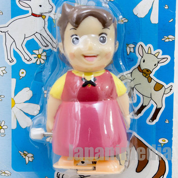 RARE Heidi Girl of the Alps Tokotoko Mascot Wind Up Figure JAPAN ANIME