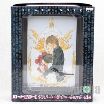 Death Note Picture Desktop Clock Yagami Light & L Banpresto JAPAN GAME