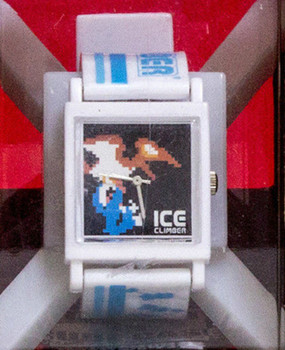 RARE!!! Nintendo Wristwatch In Cubecase Ice Climer Banpresto JAPAN GAME NES
