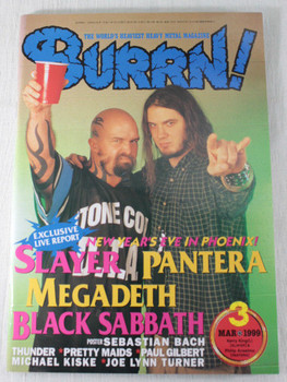 1999/03 BURRN! Japan Rock Magazine PANTERA/SLAYER/LANA LANE/GAMMA RAY/THUNDER