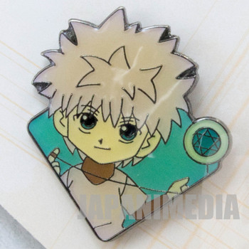 HUNTER x HUNTER Killua Pins Badge + Card JAPAN ANIME MANGA SHONEN JUMP