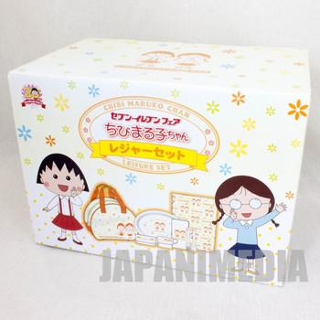 Chibi Maruko Chan 20th Anniversary Leisure Set Seven Eleven JAPAN ANIME