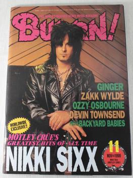 1998/11 BURRN! Japan Rock Magazine MOTLEY CLUE/ZAKK WYLDE/YNGWIE MALMSTEEN/VADER