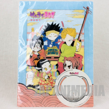 RARE!! Samurai Usagi Gosuke Shino Plastic Pencil Board Pad & Sticker JAPAN MANGA
