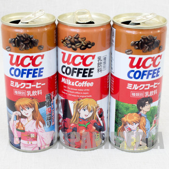 Set of 3 Evangelion UCC Steel Can Coffee Asuka Langrey