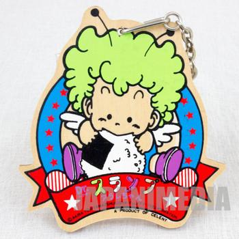 Retro Dr. Slump Arale chan Gatchan Wooden Mascot Key Chain JAPAN ANIME