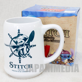 Stitch Pirates of Caribbean Mug White JAPAN ANIME Disney