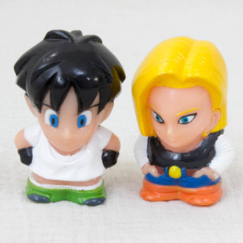Dragon Ball Z Videl & Android #18 Puppet Doll Figure JAPAN ANIME