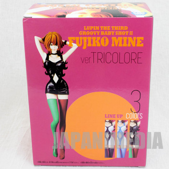 Lupin the 3rd Fujiko Mine Groovy Baby Shot Figure Tricolore Banpresto JAPAN
