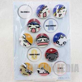 RARE! ARIA Can Button Badge Pins 9pc Set JAPAN ANIME MANGA