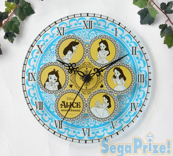 Alice In The Wonderland Premium Clear Clock SEGA Disney JAPAN ANIME
