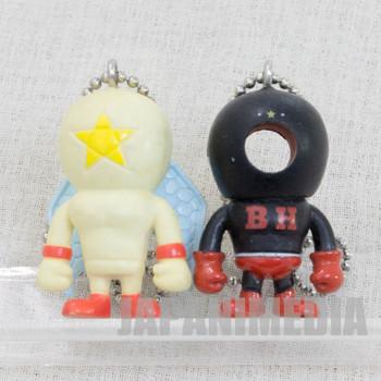 KINNIKUMAN Blackhole + Pentagon Set Panson Works Mini Figure Ballchain JAPAN