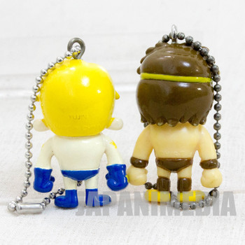 KINNIKUMAN Terryman + Geronimo Set Panson Works Mini Figure Ballchain JAPAN