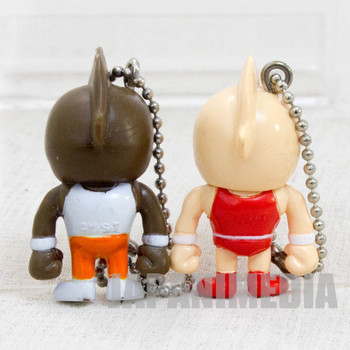 KINNIKUMAN Kinnikuman + Great Set Panson Works Mini Figure Ballchain JAPAN