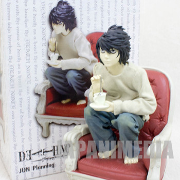RARE! Death Note L Ryuzaki Polyresin Figure Craft Label Jun Planning JAPAN ANIME