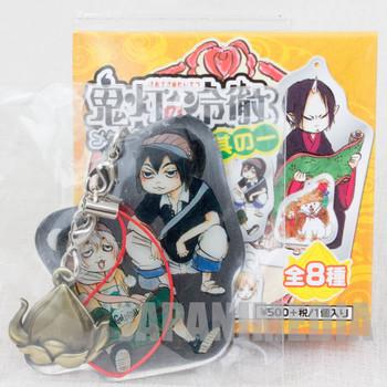 Hoozuki no Reitetsu Nasubi & Karauri Metal Plate Mascot Strap JAPAN ANIME MANGA