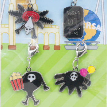 Evangelion Yuru-Shito Angel Mascot Metal Charm 4pc Set USJ JAPAN ANIME