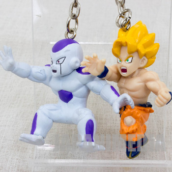Dragon Ball Z S.S. Gokou + Freeza Twin Figure Key Chain JAPAN ANIME MANGA