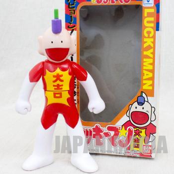 Retro RARE Tottemo Luckyman Soft Vinyl Figure Shonen Jump BANDAI JAPAN ANIME