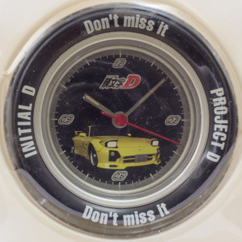 Initial D Tire Wheel Clock RX-7 FD-3S KEISUKE TAKAHASHI JAPAN ANIME FIGURE CAR