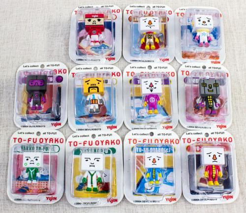 Set of 11 To-Fu Oyako Mini Blister Pack Collection Figure Yujin Devilrobot JAPAN