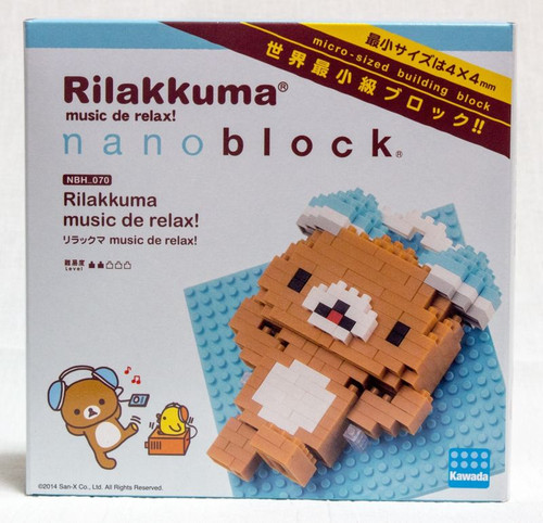 Set of Rilakkuma & Korilakkuma Kawada Nanoblock Nano Block JAPAN TOY
