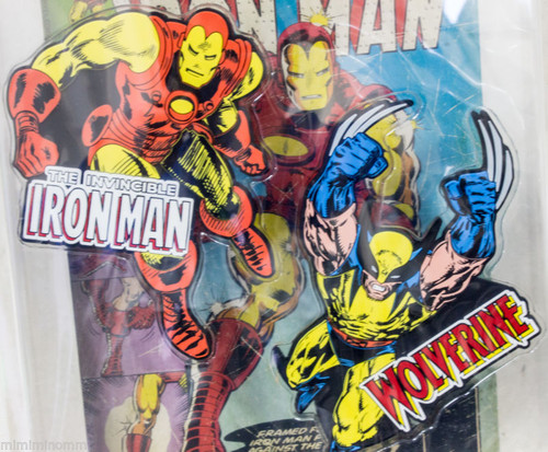 Marvel Rubber Magnet Iron man &Wolverine Banpresto JAPAN ANIME COMICS