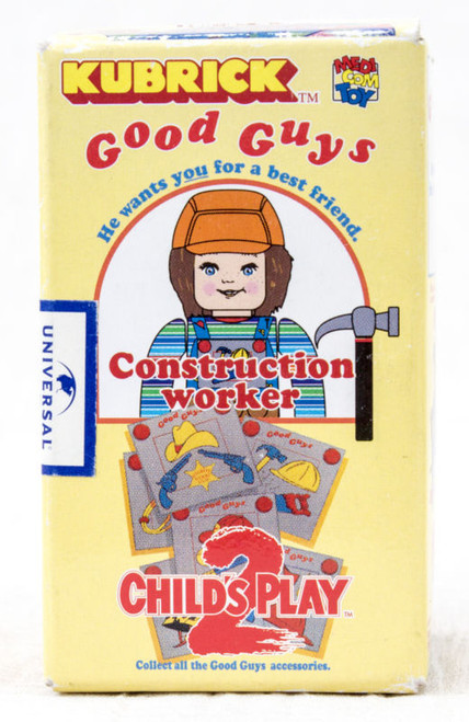 Child's Play 2 Good Guys Construction Worker Chucky Figure Kubrick Medicom Toy JAPAN